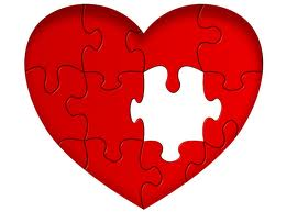 Heart Puzzle with Piece Missing