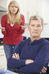 Man and woman over 50 arguing